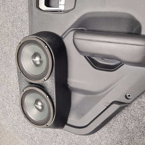 2018-2020 jeep wrangler sport rear door speaker pods for dual 6.5 stereo upgrade system installation accessory