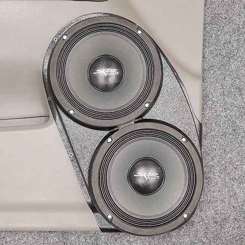 GMC Envoy front door dual 8 speaker pods stereo upgrade system installation
