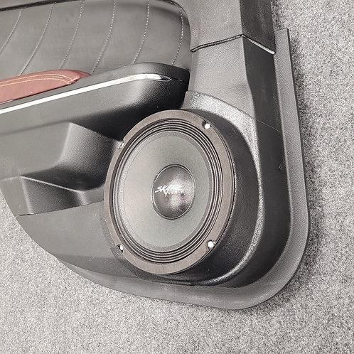 """8"""" rear door speaker pods for 2011-2020 Chrylser 300 Dodge Charger Stereo system upgrade"""