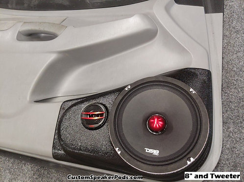 toyota tacoma 8 speaker pod front door panel stereo upgrade