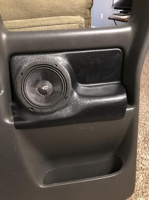 speaker pods chevy silverado sierra extended cab rear door custom stereo installation accessory