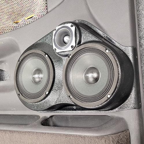 """94-98 Dodge Ram Front Door Speaker Pod Dual 6.5"""" and 3.5"""""""