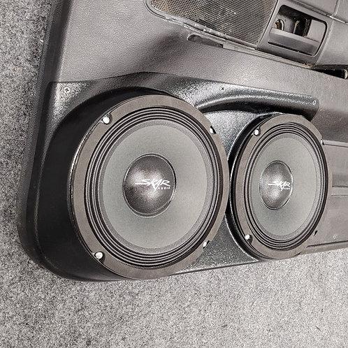 """Front Door Dual 8"""" Speaker Pods 03-12 Crown Vic Grand Marquis"""