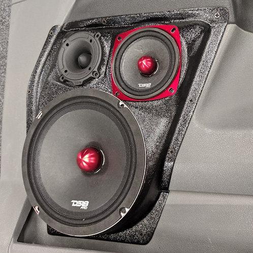 front door speaker pods for dodge ram 2006 2007 2008 8 inch for stereo system audio upgrade