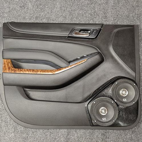 "15-20 dual 6.5"" Tahoe suburban yukon front door speaker pods stereo installation"