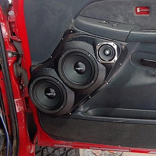 Tahoe silverado sierra yukon front door speaker pods 6.5 6.5 3.5 upgrade