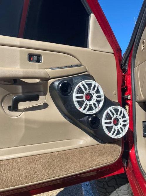speaker pods front door dual 6.5 tahoe suburban silverado yukon sierra escalade 2000 2001 2002 2003 2004 2005 2006
