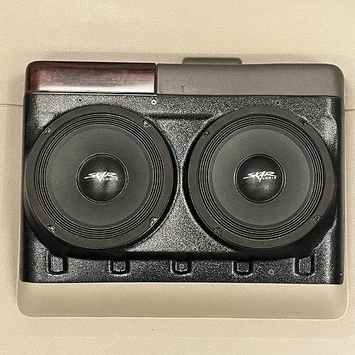 """Dual 8"""" for Rear Door 08-16 Super Duty Truck Crew Cab Speaker Pods"""