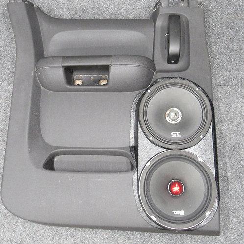 07-13 silverado lt sierra sle extended cab rear door dual 8 speaker pods for stereo upgrade installation