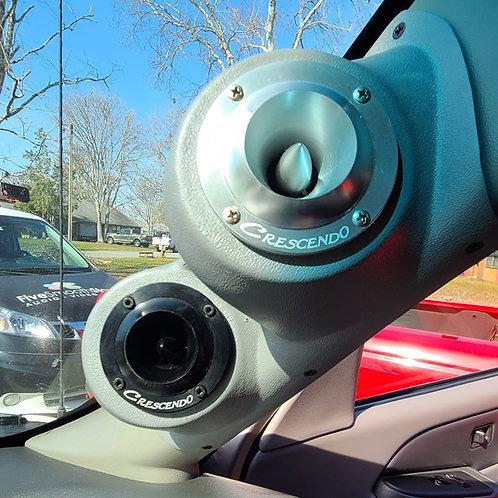 "Dual 3.5"" a pillar speaker pods for chevy tahoe silverado suburban yukon sierra"