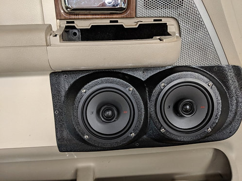 speaker pods ford f150 custom stereo installation accessory front door dual 5.25