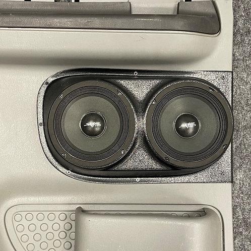 "Extended Cab Rear Door Dual 6.5"" Speaker Pods 99-07 F-250"