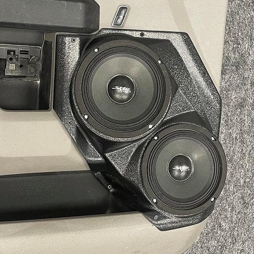 """Front Door Dual 6.5"""" Speaker Pods 2015-2020 F150 & F250 MK2"""