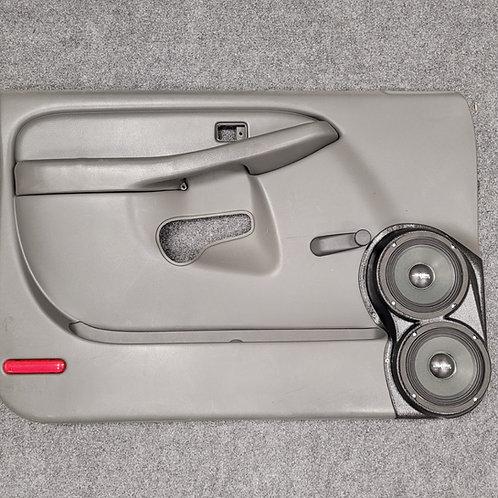 "Dual 6.5"" Front Door Speaker Pods 00-06 Silverado Sierra Manual Window"