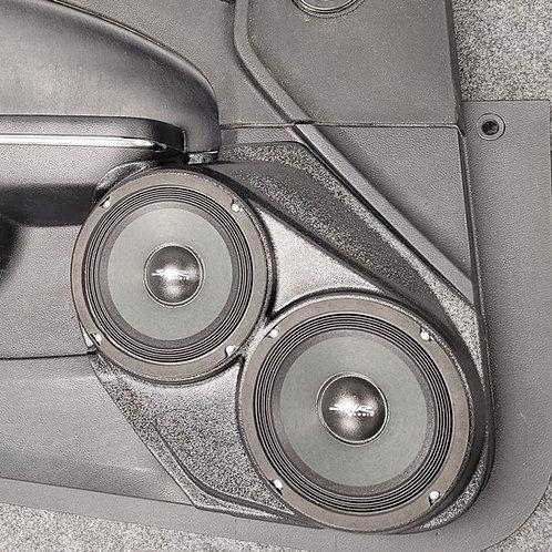 front door speaker pods dodge charger chrysler 300 dual 6.5 stereo system upgrade