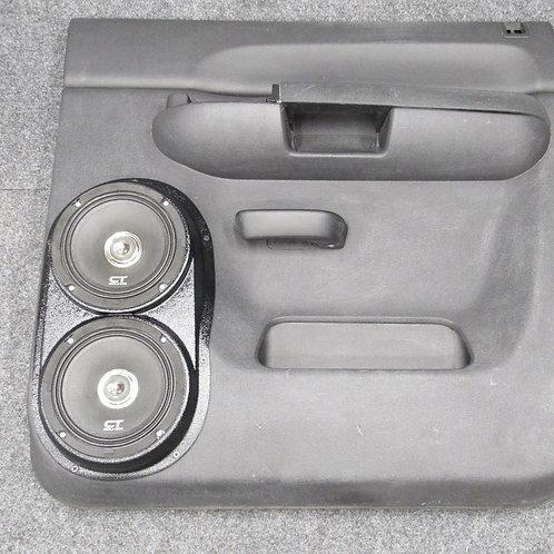 "silverado lt sierra sle crew rear dual 6.5"" speaker pods stereo upgrade installation"