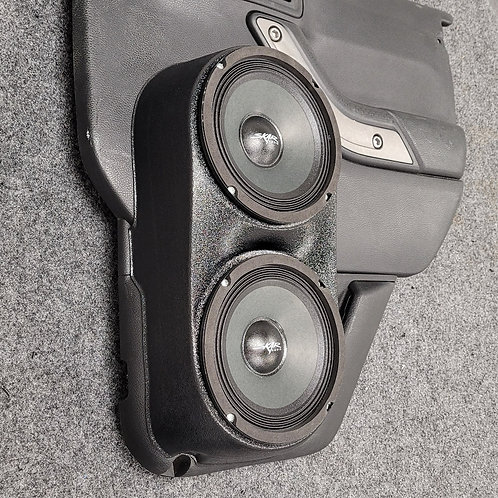 jeep wrangler jk unlimited rear door speaker pods for dual 6.5 stereo system upgrade