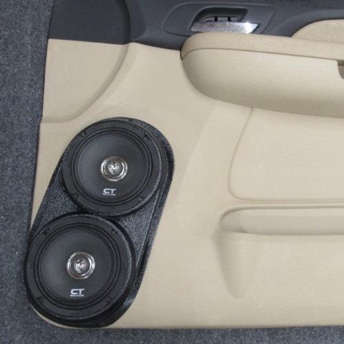 07-09 ltz tahoe silverado speaker pods dual 6.5 front door stereo upgrade system installation