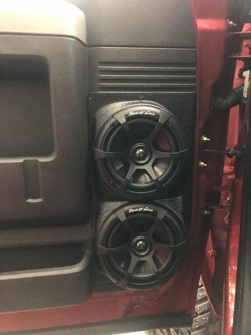 """Front Door Dual 6.5"""" Speaker Pods 08-16 F-250"""