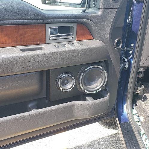 Ford F-150 speaker pods stereo upgrade installation