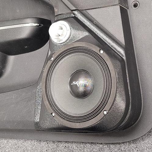 "2011-2020 Chrysler 300 Dodge Charger front door speaker pods for 8"" stereo system upgrade"