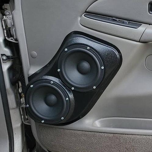 """Flanged Dual 6.5"""" Front Door Speaker Pods 00-06 GMFST"""