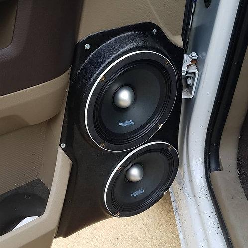 dual 6.5 in speaker pods dodge ram stereo speaker upgrade