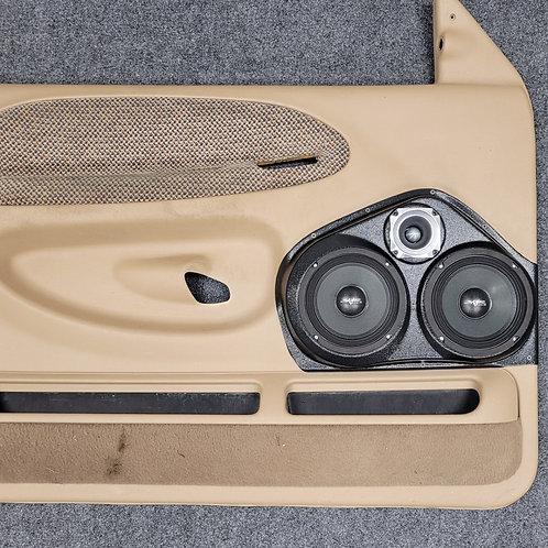 """99-01 Dodge Ram Front Door Speaker Pod Dual 6.5"""""""