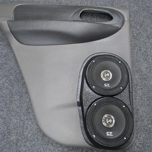 rear door speaker pods for chevrolet trailblazer dual 6.5 stereo upgrade