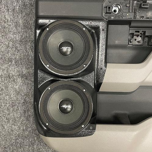 """Rear Door Dual 6.5"""" Speaker Pods 2015-2020 F150 & F250 MK2"""