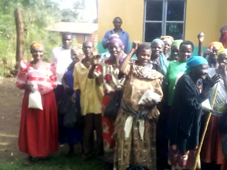 Kyemula's older people saying thank you to the donors and sponsors...