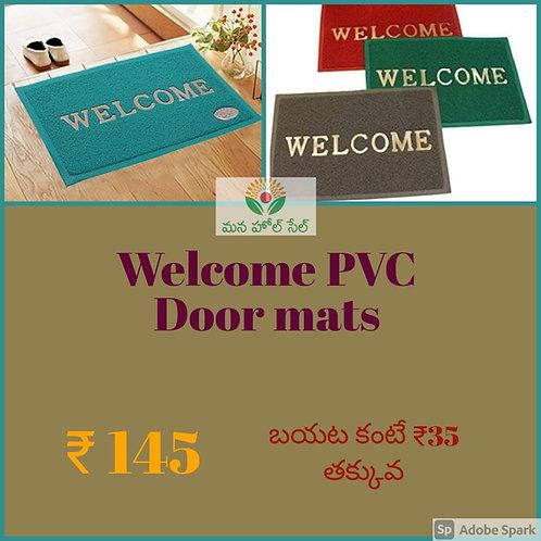 Welcome PVC Door Mat