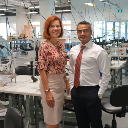 #FabriKite touring the Fashion Exchange facilities at Regent Park w/ Chair of Fashion Studies at Geo