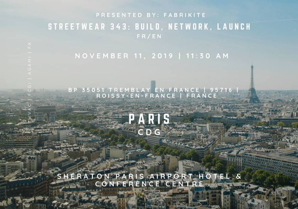 CEO of FabriKite for Meet and Greet with local Streetwear Designers at CDG Sheraton, Paris on 11.11.