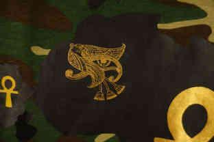 Gold Foil Print on Rubber Print