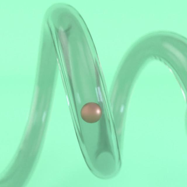 Tube ball plastic