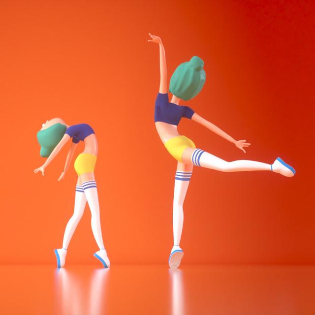 Dancing Girl 3D Character