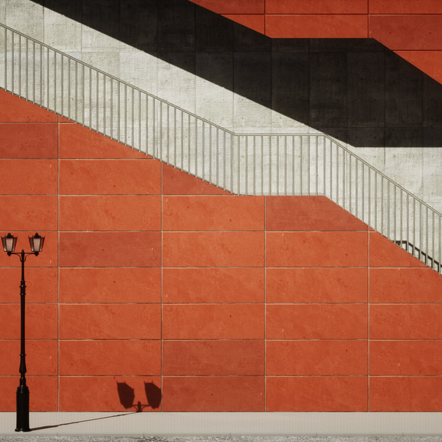 Abstract Orange Stairs