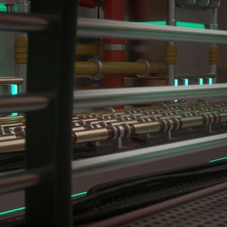 Sci Fi Transport Engine Room