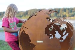 Sphere fire pit globe