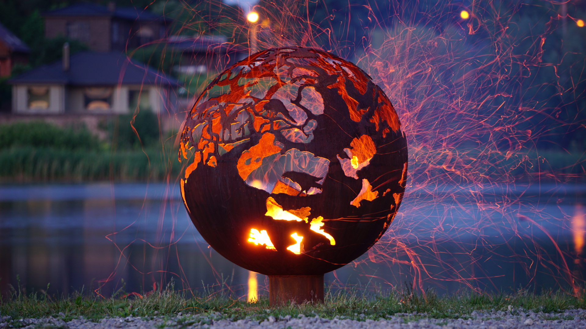 sphere fire pit