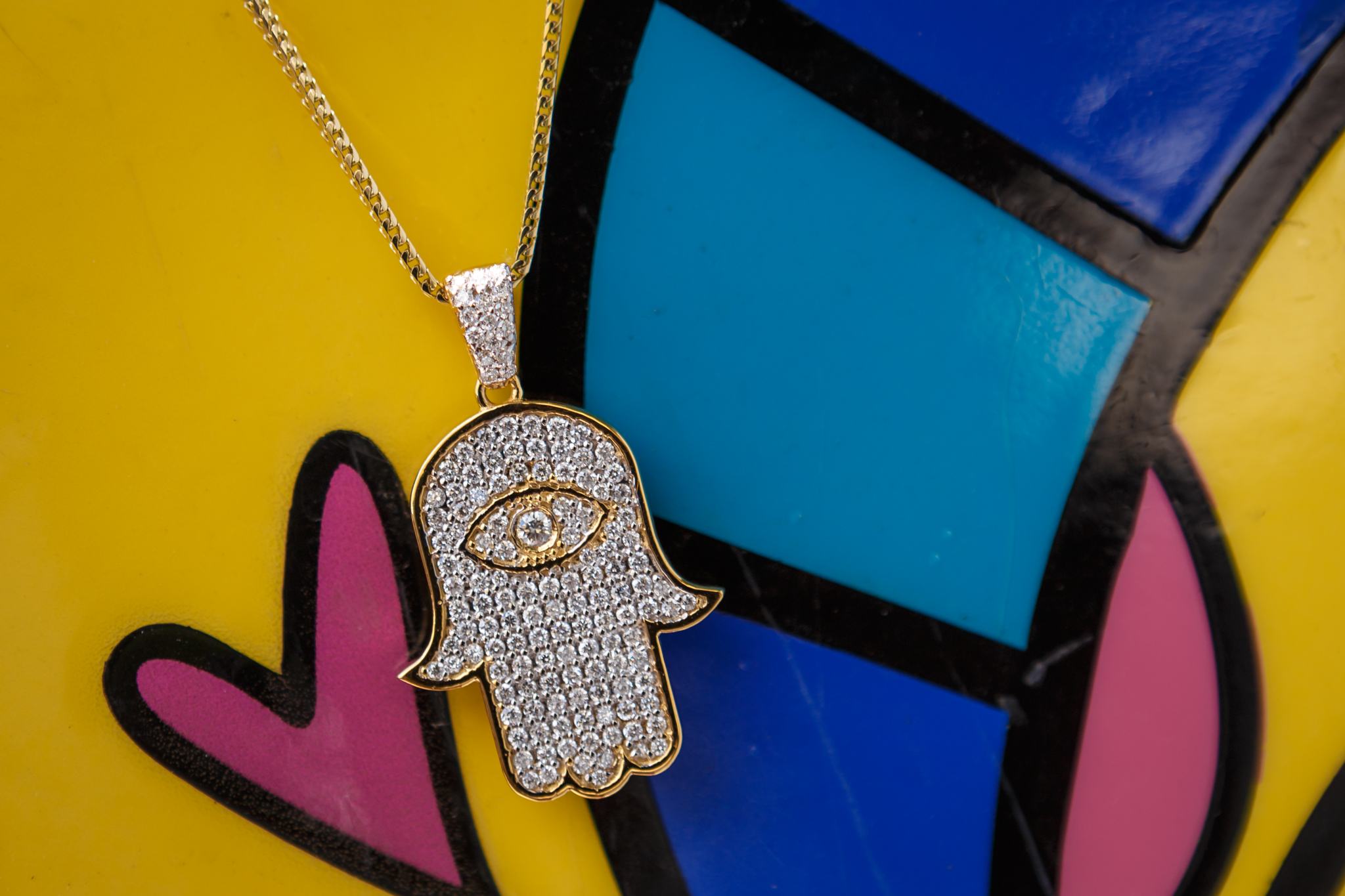 Diamond Hamsa