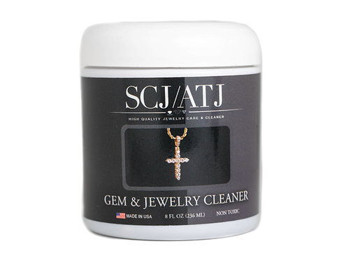 Gem & Jewelry Cleaner with Basket & Brush for Fine Jewelry
