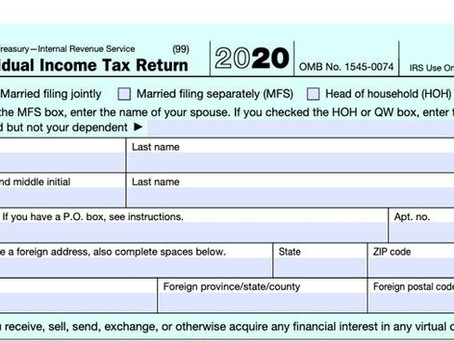 IRS Releases Form 1040 For 2020 (Spoiler Alert: Still Not A Postcard)