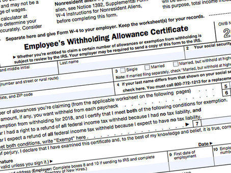 IRS issues draft of revised Form W-4 for 2020