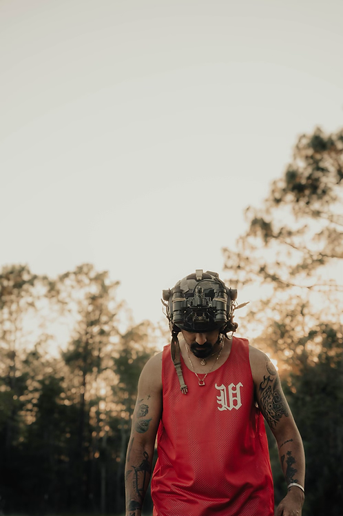 BLOOD RED REVERSIBLE DUB JERSEY