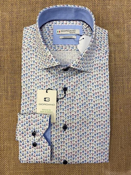 Giordano 207844-10 white pat shirt