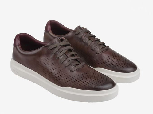 COLE HAAN GrandPrø Rally Laser Cut Lace Up TrainerTan