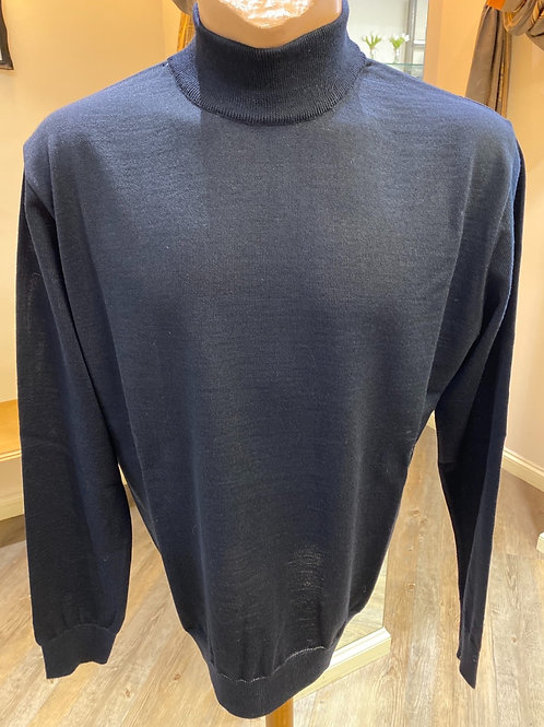 Montechiaro of Italy Crafted  navy blue knitwear