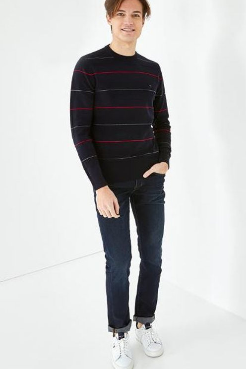 Eden Park Long sleeve navy blue knitwear